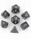 Chessex - CHX 7-Die Polyhedral Set Smoke w/silver Borealis