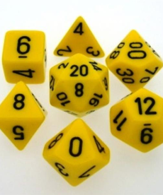Chessex - CHX 7-Die Polyhedral Set Yellow w/black Opaque