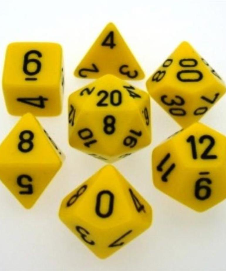 Chessex - CHX 7-Die Polyhedral Set Yellow w/black Opaque