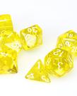 Chessex - CHX 7-Die Polyhedral Set Yellow w/white Translucent
