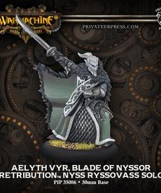 Privateer Press - PIP Warmachine - Retribution of Scyrah - Aelyth Vyr, Blade of Nyssor - Nyss Ryssovass Solo