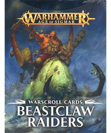 Games Workshop - GAW Warhammer Age of Sigmar - Warscroll Cards: Beastclaw Raiders