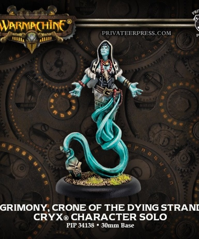 Privateer Press - PIP Warmachine - Cryx - Agrimony, Crone of the Dying Strands Character Solo