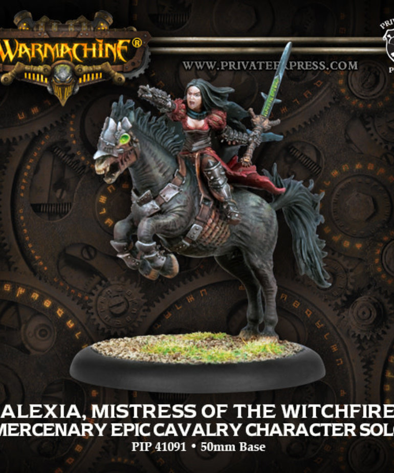 Privateer Press - PIP Warmachine - Mercenaries - Alexia, Mistress of the Witchfire - Epic Cavalry Character Solo (Alexia 2)