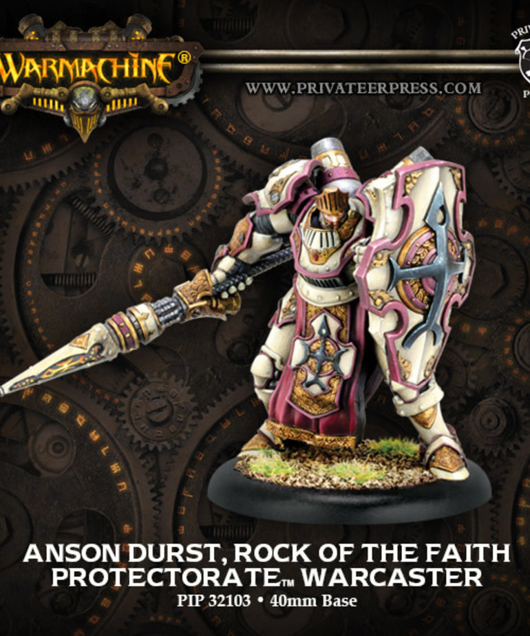Privateer Press - PIP Warmachine - Protectorate of Menoth - Anson Durst, Rock of the Faith - Warcaster (Durst 1)