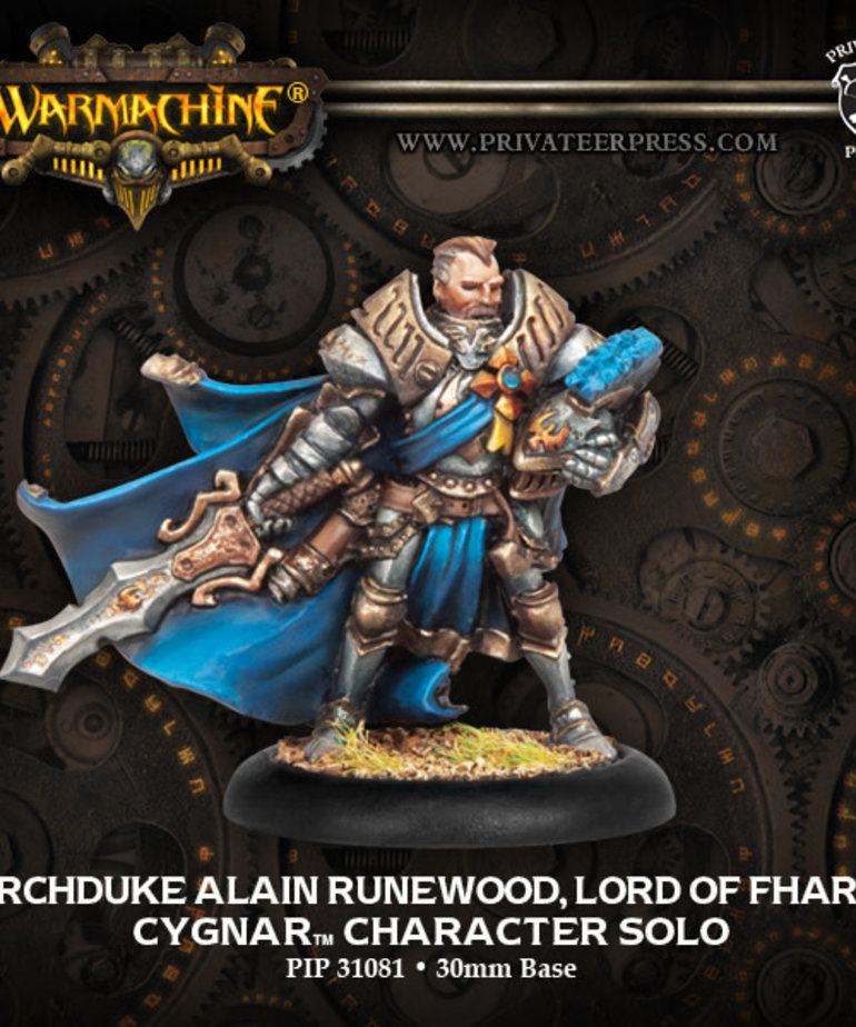 Privateer Press - PIP Warmachine - Cygnar - Archduke Runewood, Lord of Fharin - Character Solo
