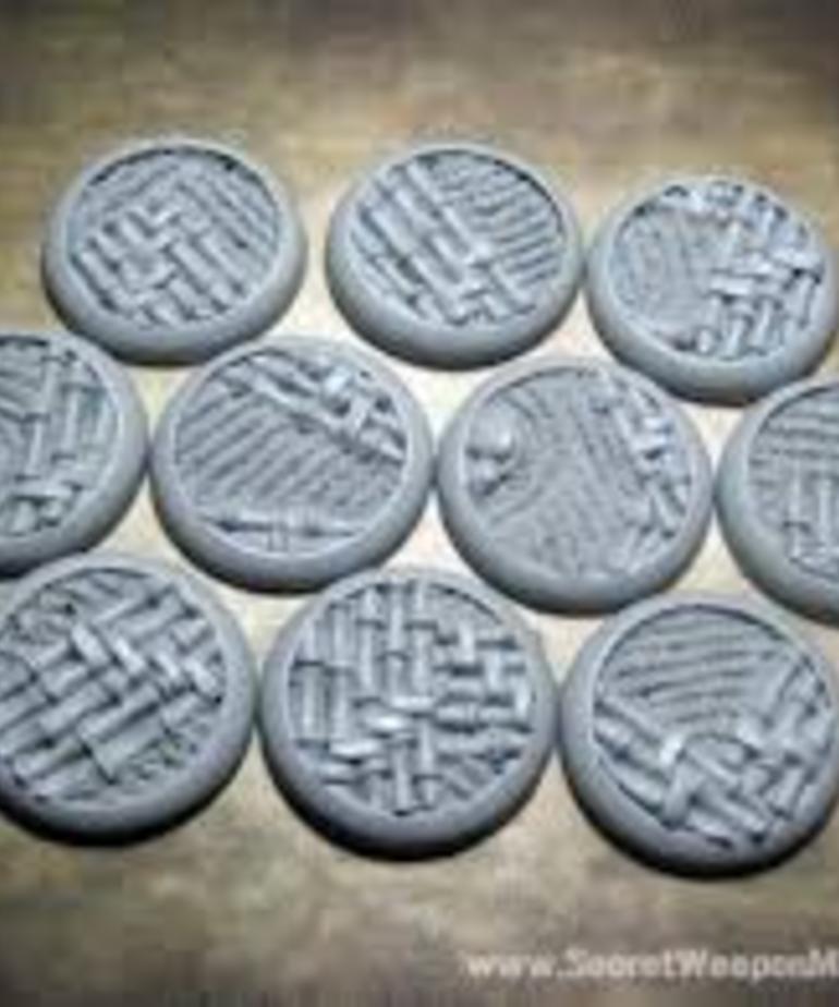 Secret Weapon Miniatures - SWM CLEARANCE Asian Garden 30mm Bases (10) Secret Weapon Bases