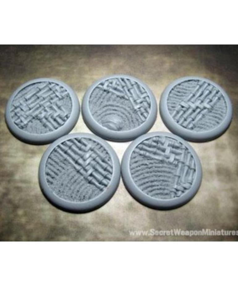 Secret Weapon Miniatures - SWM CLEARANCE Asian Garden 40mm Bases (5) Secret Weapon Bases