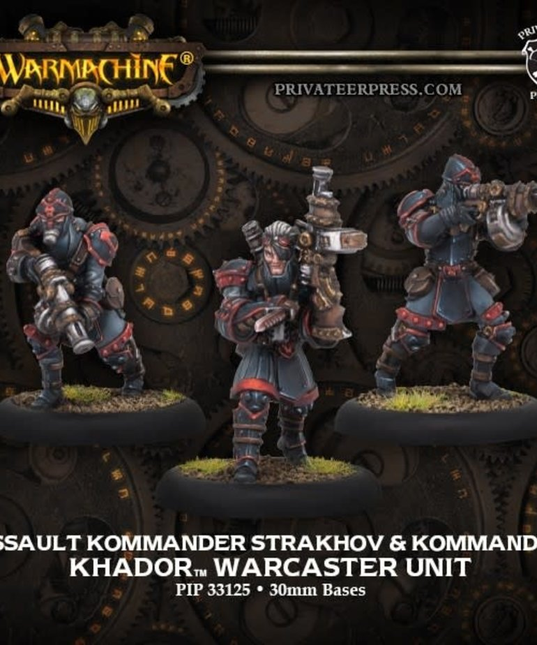 Privateer Press - PIP Warmachine - Khador - Assault Kommander Strakhov & Kommandos - Warcaster Unit (Strakhov 2)