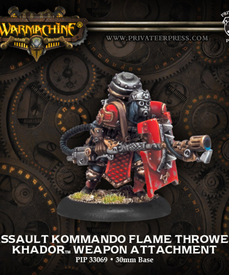 Privateer Press - PIP Warmachine - Khador - Assault Kommando Flame Thrower - Weapon Attachment