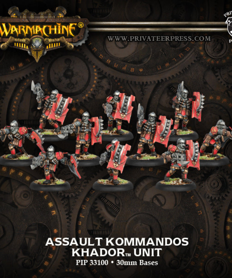Privateer Press - PIP Warmachine - Khador - Assault Kommandos - Unit