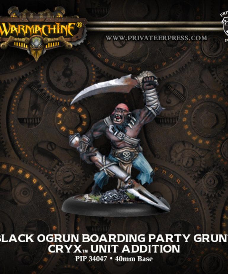 Privateer Press - PIP Warmachine - Cryx - Black Ogrun Boarding Party Grunt - Unit Addition