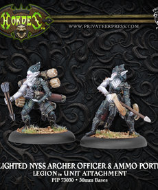 Privateer Press - PIP Hordes - Legion of Everblight - Blighted Nyss Archer Officer & Ammo Porter - Unit Attachment