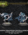Privateer Press - PIP Hordes - Legion of Everblight - Blighted Nyss Strider Officer & Musician - Unit Attachment