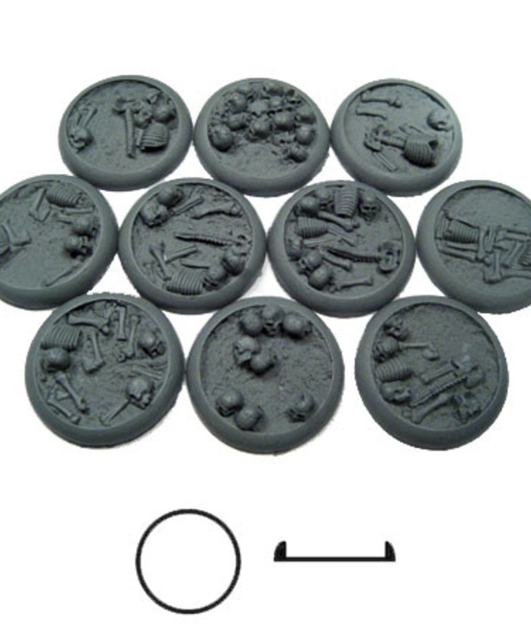 Secret Weapon Miniatures - SWM CLEARANCE Bone Fields 30mm Bases (10) Secret Weapon Bases
