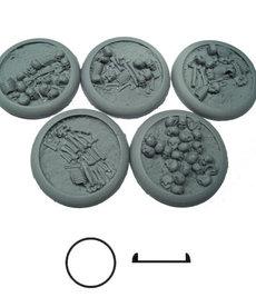 Secret Weapon Miniatures - SWM Bone Fields 40mm Bases (5) BLACK FRIDAY NOW
