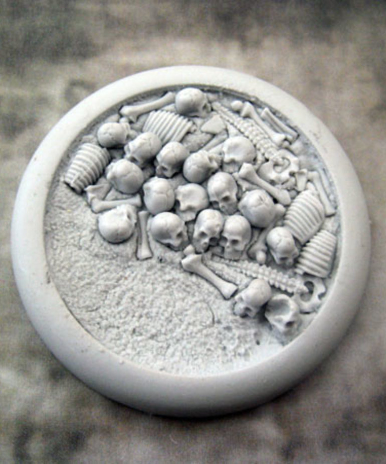 Secret Weapon Miniatures - SWM CLEARANCE Bone Fields 50mm Base 03 Secret Weapon Bases