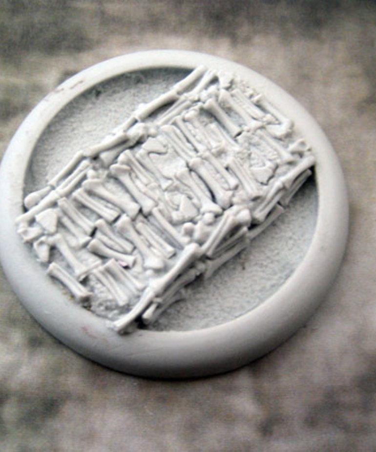 Secret Weapon Miniatures - SWM Bone Fields 50mm Base 04 Secret Weapon Bases BLACK FRIDAY NOW
