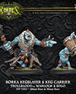 Privateer Press - PIP Hordes - Trollbloods - Borka Kegslayer & Keg Carrier - Warlock & Solo (Borka 1)