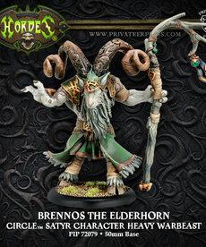 Privateer Press - PIP Hordes - Circle Orboros - Brennos the Elderhorn - Satyr Character Heavy Warbeast