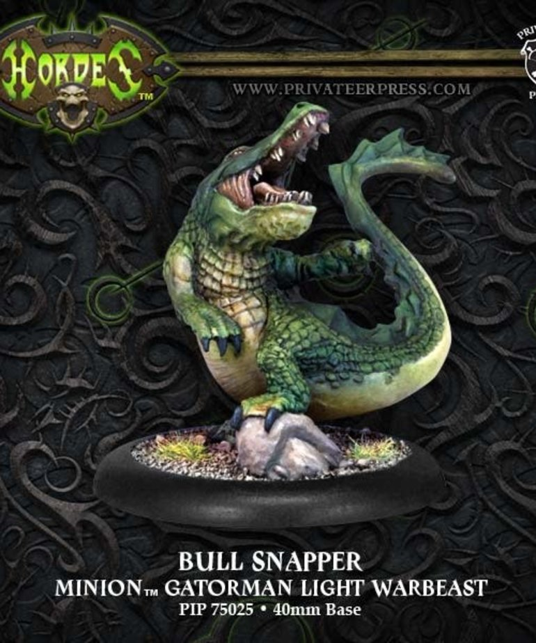 Privateer Press - PIP Hordes - Minions: Bull Snapper - Gatorman Light Warbeast