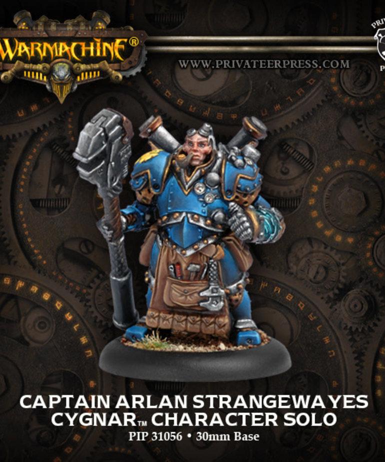 Privateer Press - PIP Warmachine - Cygnar - Captain Arlan Strangeways - Character Solo