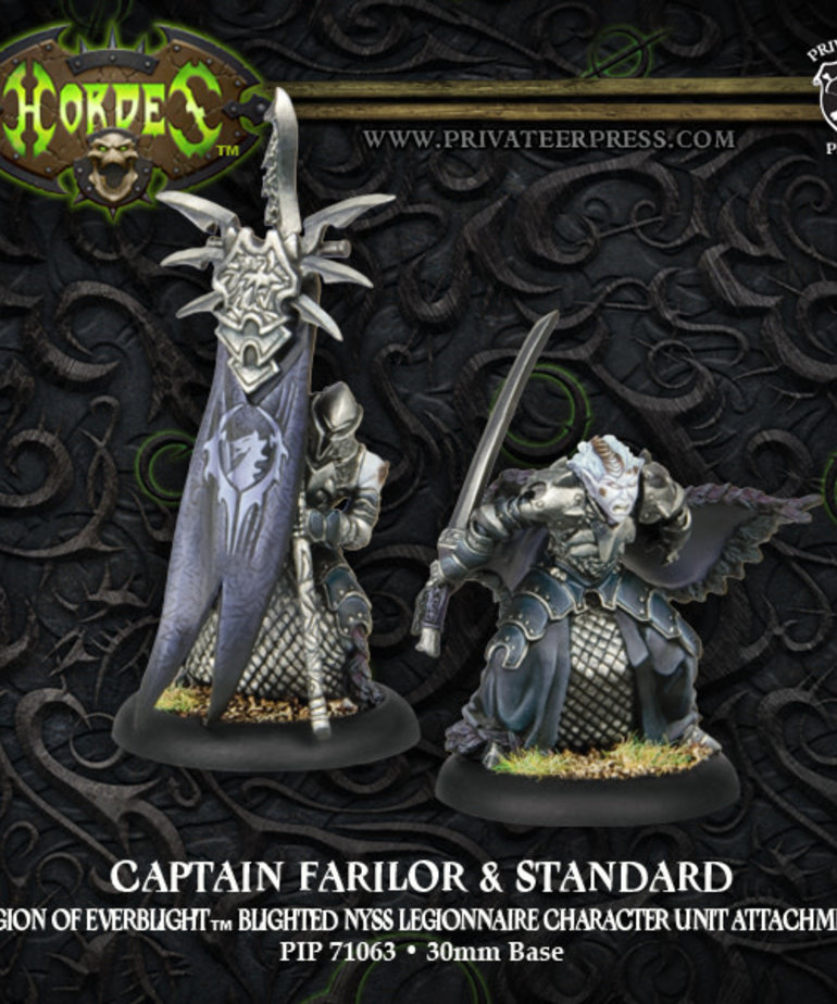 Privateer Press - PIP Hordes - Legion of Everblight - Captain Farilor & Standard - Blighted Nyss Legionnaire Character Unit Attachment