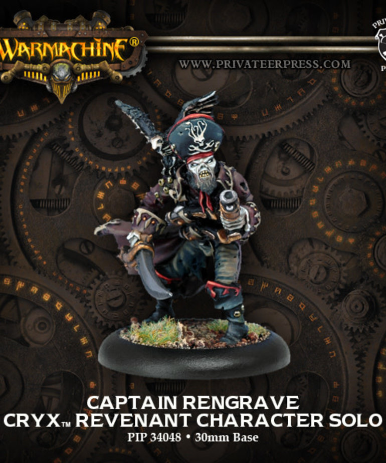 Privateer Press - PIP Warmachine - Cryx - Captain Rengrave - Revenant Character Solo