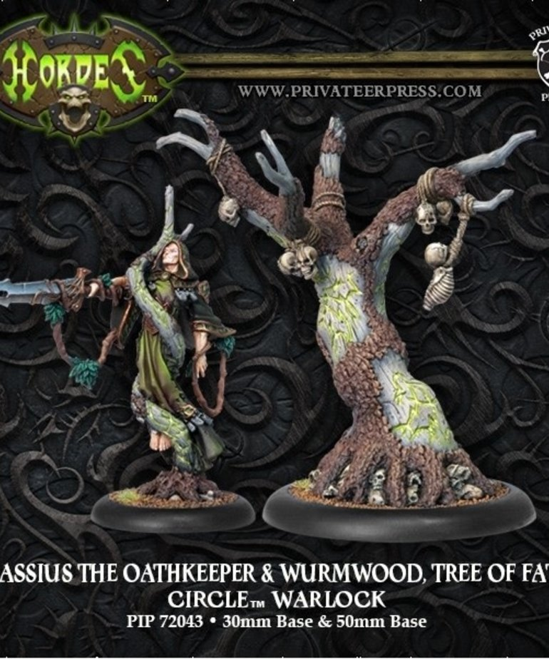 Privateer Press - PIP Hordes - Circle Orboros - Cassius the Oathkeeper & Wurmwood, Tree of Fate - Warlock (Cassius 1)