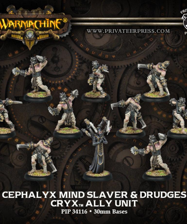 Privateer Press - PIP Warmachine - Cryx - Cephalyx Mind Slaver & Drudges - Ally Unit
