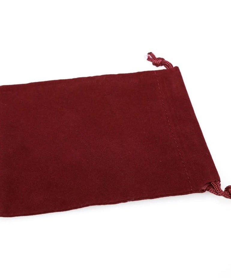 Chessex - CHX Chessex Small Suede Cloth Dice Bag Burgandy