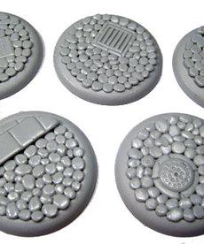 Secret Weapon Miniatures - SWM CLEARANCE Cobblestone 40mm Bases (5) Secret Weapon Bases