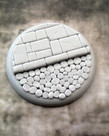 Secret Weapon Miniatures - SWM CLEARANCE Cobblestone 50mm Base 03 Secret Weapon Bases
