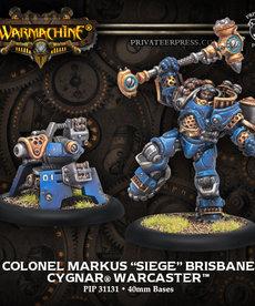 """Privateer Press - PIP Warmachine - Cygnar - Colonel Markus """"Siege"""" Brisbane - Warcaster (Brisbane 2)"""