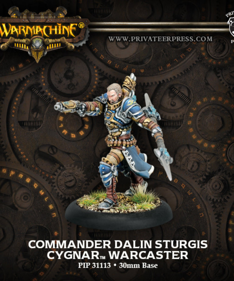 Privateer Press - PIP Warmachine - Cygnar - Commander Dalin Sturgis - Warcaster (Sturgis 1)