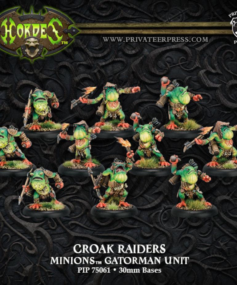 Privateer Press - PIP Hordes - Minions - Croak Raiders - Gatorman Unit