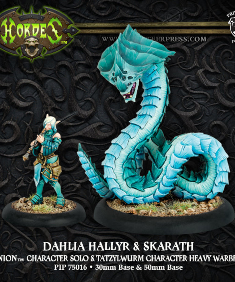Privateer Press - PIP Hordes - Minions - Dahlia Hallyr & Skarath - Character Solo & Tatzylwurm Character Heavy Warbeast