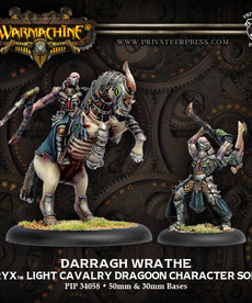 Privateer Press - PIP Warmachine - Cryx - Darragh Wrathe - Light Cavalry Dragoon Character Solo