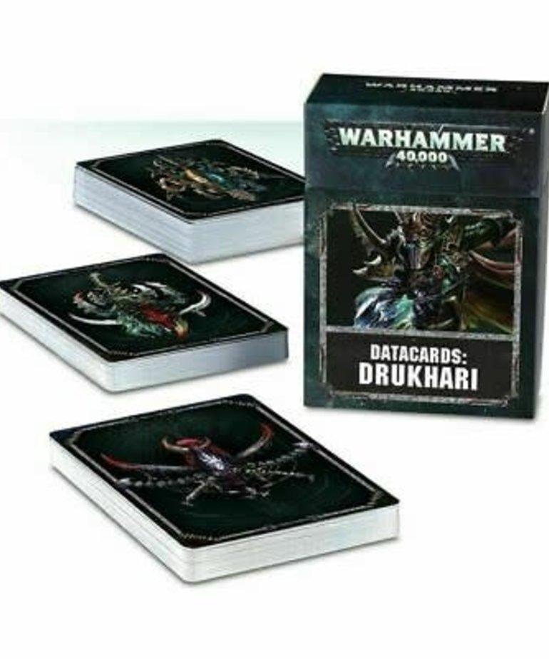 Games Workshop - GAW Warhammer 40k - Datacards: Drukhari