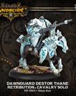 Privateer Press - PIP Warmachine - Retribution of Scyrah - Dawnguard Destor Thane - Cavalry Solo