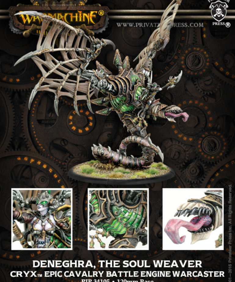 Privateer Press - PIP Warmachine - Cryx - Deneghra, the Soul Weaver - Epic Cavalry Battle Engine Warcaster (Deneghra 3)