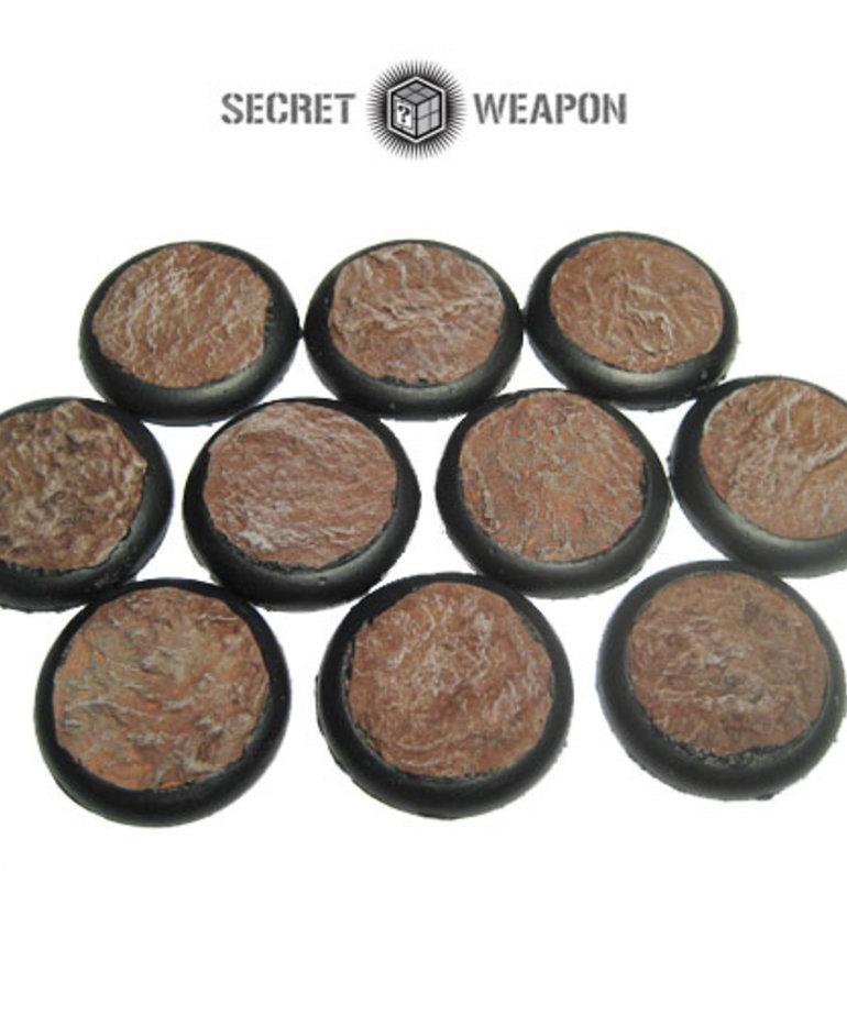 Secret Weapon Miniatures - SWM Desert Mesa 30mm Bases (10) Secret Weapon Bases BLACK FRIDAY NOW