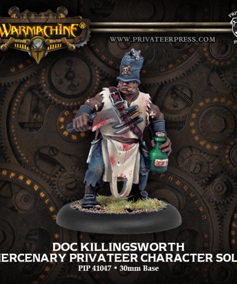 Privateer Press - PIP Warmachine - Mercenaries - Doc Killingsworth - Privateer Character Solo