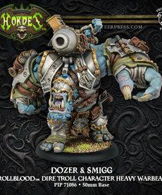 Privateer Press - PIP Hordes - Trollbloods - Dozer & Smigg - Dire Troll Character Heavy Warbeast