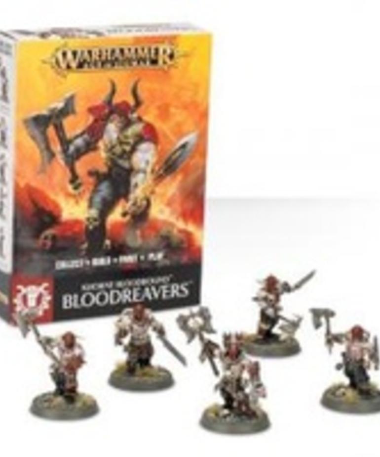 Games Workshop - GAW Warhammer Age of Sigmar - Khorne Bloodbound - Bloodreavers - Easy To Build