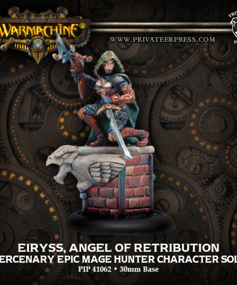 Privateer Press - PIP Warmachine - Mercenaries - Eiryss, Angel of Retribution - Epic Mage Hunter Character Solo