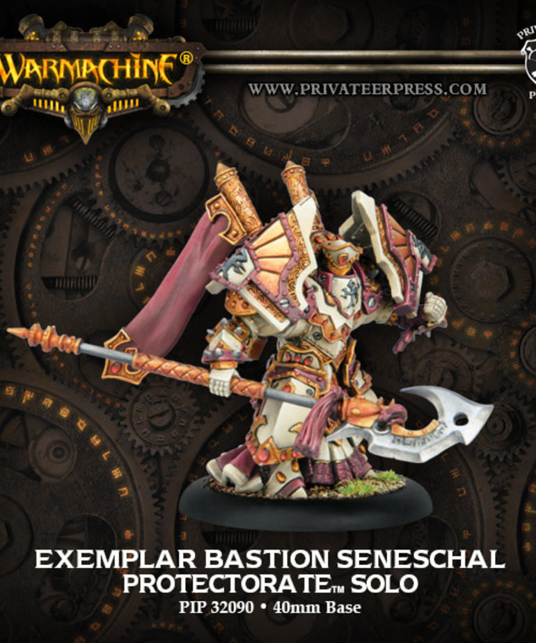 Privateer Press - PIP Warmachine - Protectorate of Menoth - Exemplar Bastion Seneschal - Solo