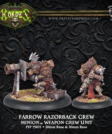 Privateer Press - PIP Hordes - Minions - Farrow Razorback Crew - Weapon Crew Unit
