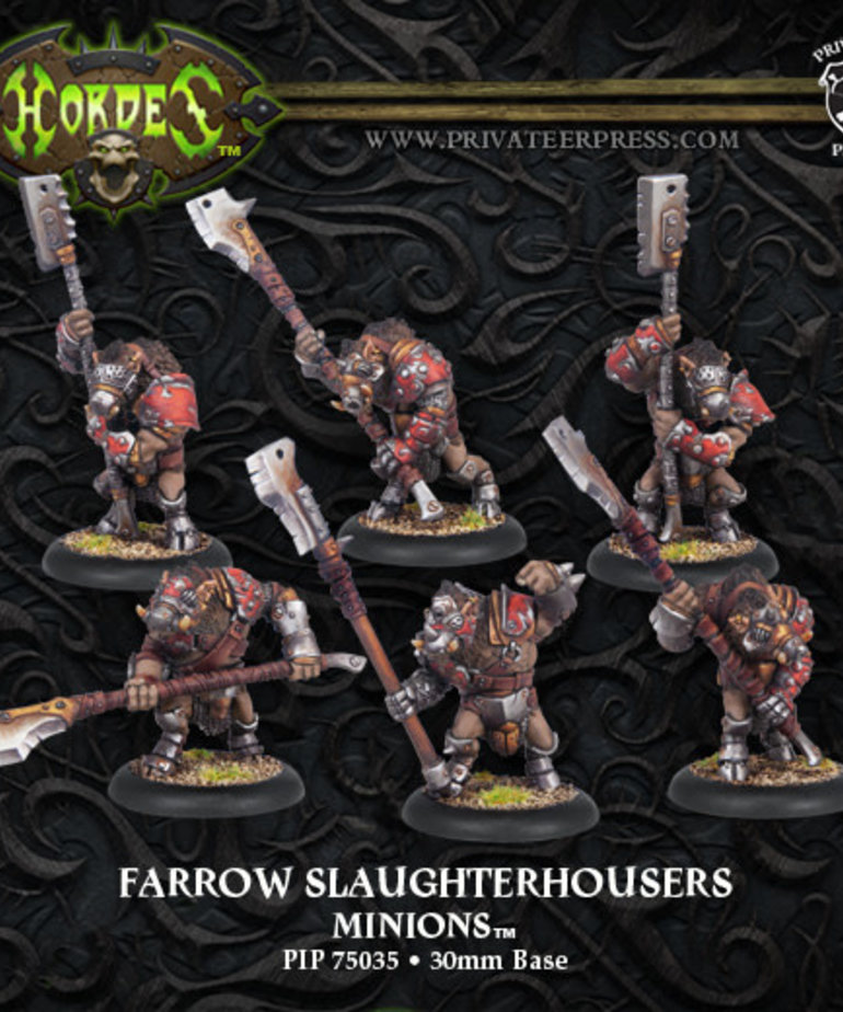 Privateer Press - PIP Hordes - Minions - Farrow Slaughterhousers - Farrow Unit