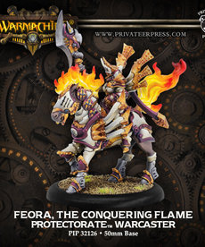 Privateer Press - PIP Warmachine - Protectorate of Menoth - Feora, The Conquering Flame - Warcaster (Feora 3)